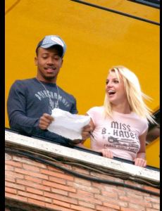 Britney Spears und Columbus Short