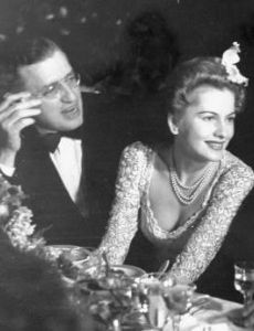 David O. Selznick and Joan Fontaine
