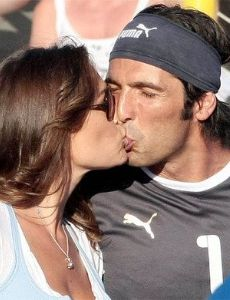 Gianluigi Buffon and Alena Seredova
