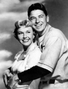 Doris Day and Ronald Reagan