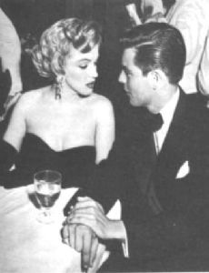 Marilyn Monroe and Robert Wagner