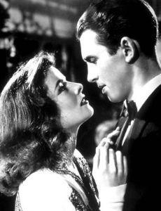 Katharine Hepburn and Jimmy Stewart