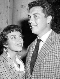 Sidney Chaplin and Joan Collins