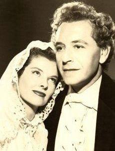 Katharine Hepburn and Paul Henreid