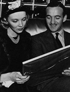 Virginia Bruce and David Niven