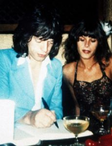 Uschi Obermaier and Mick Jagger
