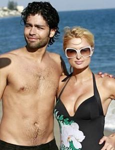 Adrian Grenier and Paris Hilton