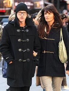 Helena Christensen and Paul Banks