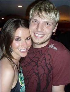 Meredith Weiss and Nick Carter