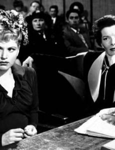 Judy Holliday and Katharine Hepburn