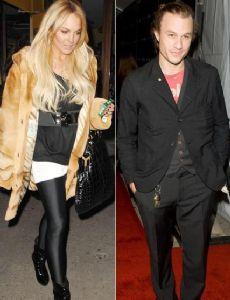 Heath Ledger and Lindsay Lohan