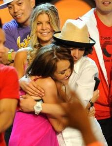 Adam G Sevani And Miley Cyrus Kissing