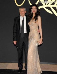 Claude Lelouch and Alessandra Martines