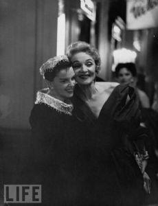 Marlene Dietrich and Judy Garland