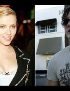James Holzier and Scarlett Johansson
