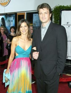 Perrey Reeves and Nathan Fillion