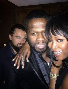 50 Cent and Naomi Campbell