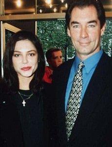 Timothy Dalton and Oksana Grigorieva