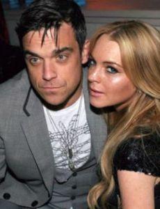 Lindsay Lohan and Robbie Williams
