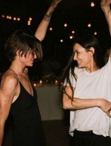 Demi Moore and Masha Mandzuka