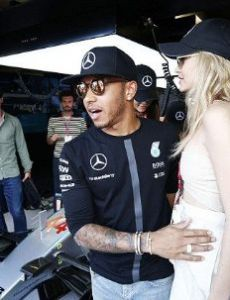 Lewis Hamilton and Gigi Hadid