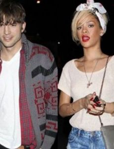 Rihanna and Ashton Kutcher