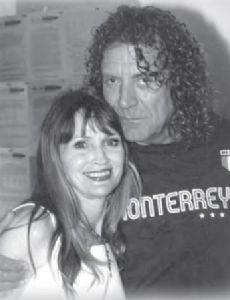 Michele Overman and Robert Plant