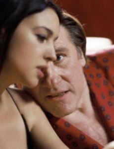 Gerard Depardieu and Monica Bellucci