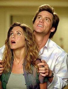 Jennifer Aniston and Jim Carrey