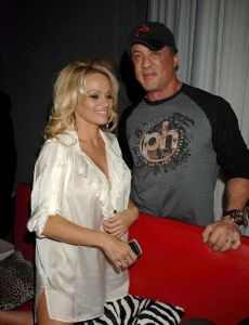 Pamela Anderson and Sylvester Stallone