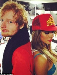 Nicole Scherzinger and Ed Sheeran