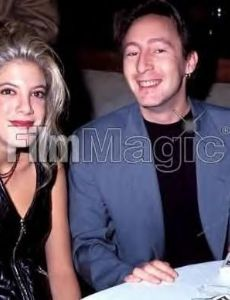 Julian Lennon and Tori Spelling