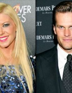 Tara Reid and Tom Brady