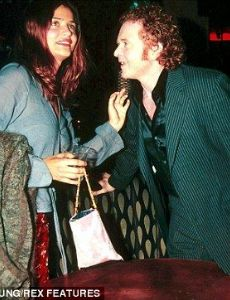 Mick Hucknall and Helena Christensen