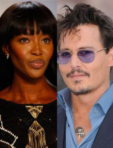 Naomi Campbell and Johnny Depp
