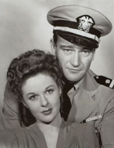 John Wayne and Susan Hayward