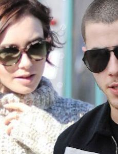 Lily Collins and Nick Jonas