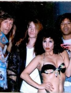 Slash and Yvonne Simon