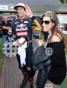 Daniel Ricciardo and Jemma Boskovich