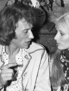 Johnny Hallyday and Nanette Workman