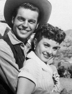 Jean Peters and Robert Wagner