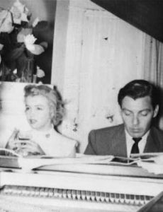 Fred Karger and Marilyn Monroe
