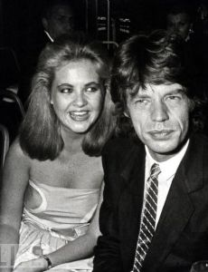 Cornelia Guest and Mick Jagger