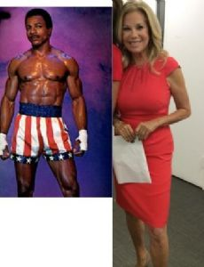 Kathie Gifford and Carl Weathers