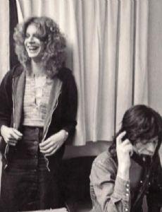 Chris O'Dell and Mick Jagger
