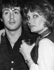 Joyce Ingalls and Sylvester Stallone