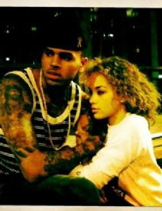 Jasmine Sanders and Chris Brown