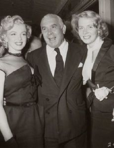 Marilyn Monroe and Spyros P. Skouras