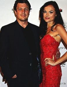 Christina Ochoa and Nathan Fillion
