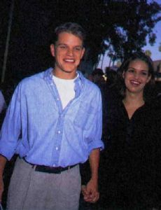 Kara Sands and Matt Damon